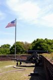 Cannon and American Flag at Ft Barrancas