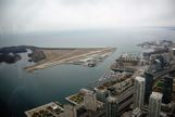 View from the top of the CN Tower overlooking an airport