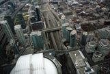 A view from the top of the CN Tower overlooking the Rogers Center