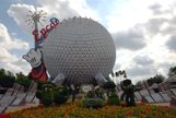 Epcot Ball with Epoct Sign at the top
