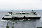 Auto ferry boat in Puget Sound