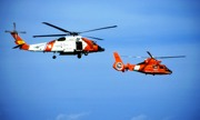 Two Coast Guard Helicopters