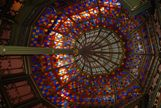 Stained glass ceiling of historic capitol