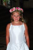 My daughter in a wedding as a Flower girl