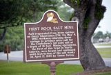 Sign about the salt mine on Avery Island, LA