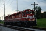 Train on tracks leaving New Orleans