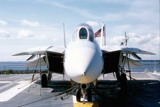 F-14 Tomcat on the deck of the USS Yorktown